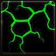 Dinosaur Skin Art – Lava Green Black