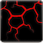 Dinosaur Skin Art – Lava Red Black